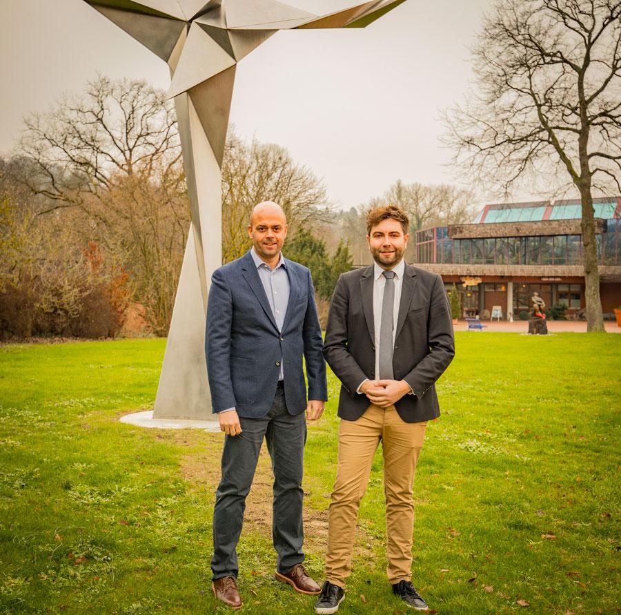 Dennis Schneider, neuer Geschäftsführer der BuK und Dr. Carsten Vogelpohl