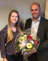 Bürgermeister Vogelpohl gratuliert Nadine Lösle