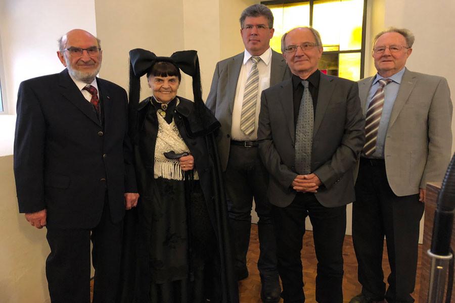 Karl Mannhardt, Paula Röttele, Elmar Vogt, Pfarrer i.R. Axel Huettner, Reinhard Geugelin