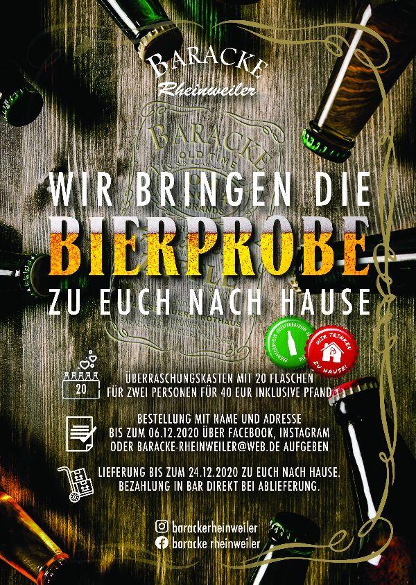 Bierprobe Baracke Rheinweiler